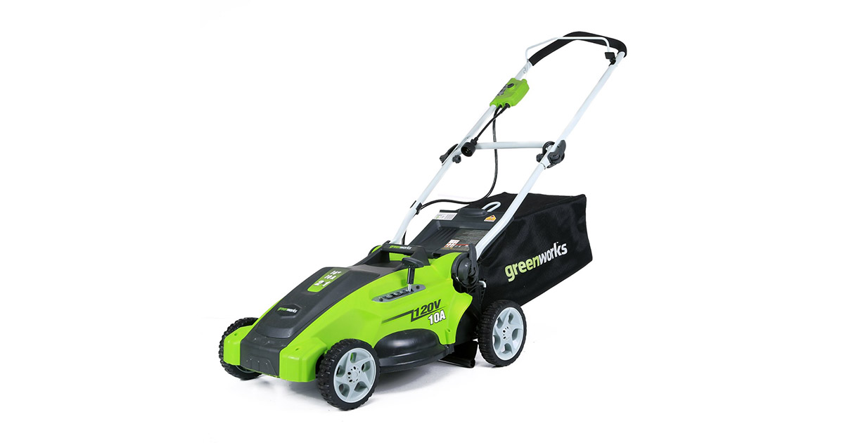 Greenworks 25142 16-Inch 10 Amp Corded Electric Lawn Mower image