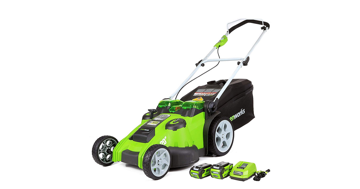 Greenworks 25302 20-Inch 40V Twin Force Cordless Lawn Mower image