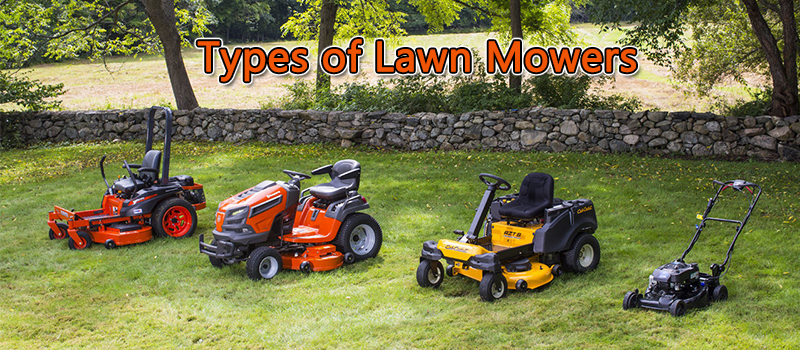 Types of Lawn Mowers Image