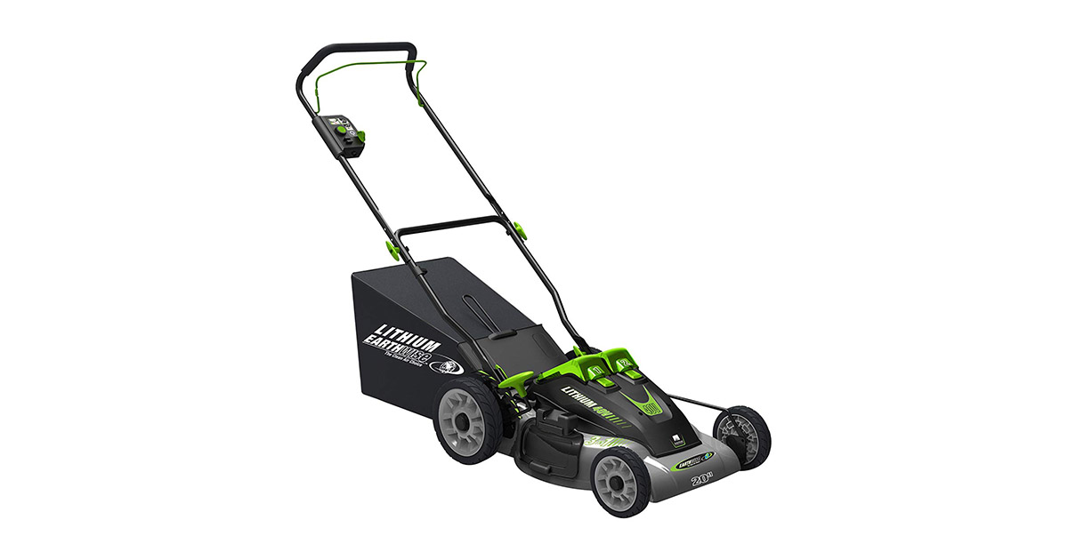 Earthwise 60420 20-Inch 40Volt Lithium Ion Cordless Electric Lawn Mower image