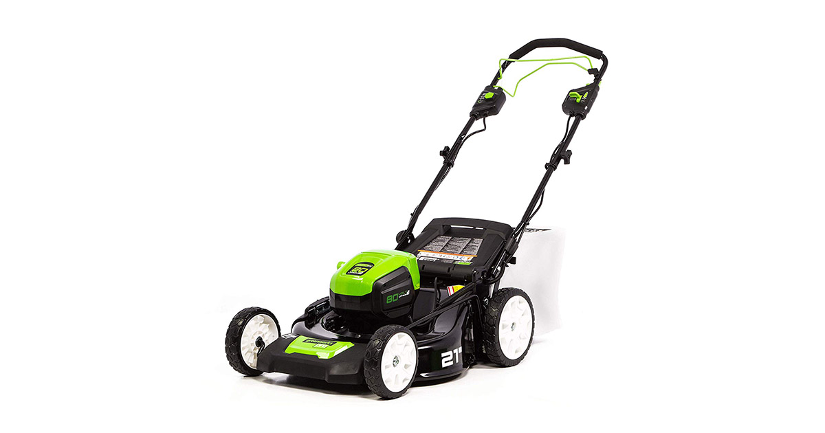 Greenworks MO80L00 PRO 21-Inch 80V Brushless Self Propelled Cordless Lawn Mower image