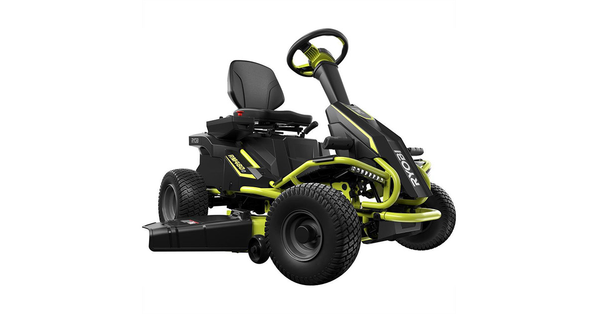 Ryobi RY48111 38 inches 100 Ah Battery Electric Rear Engine Riding Lawn Mower image