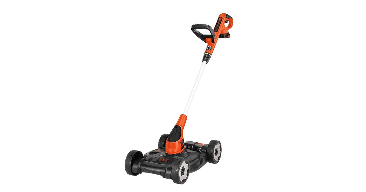 BLACK+DECKER MTC220 12-Inch 20V MAX Lithium Cordless 3-in-1 Trimmer_Edger and Mower image