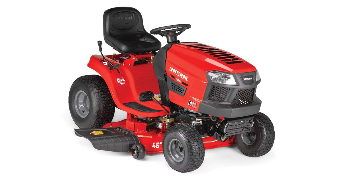 Craftsman T135 18.5 HP Briggs & Stratton 46-Inch Gas Powered Riding Lawn Mower image